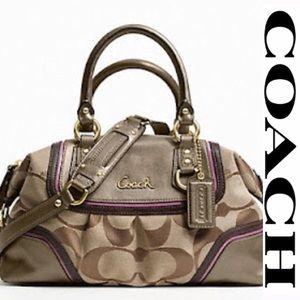 Ashley Spectator Satchel - Khaki Rose Multi